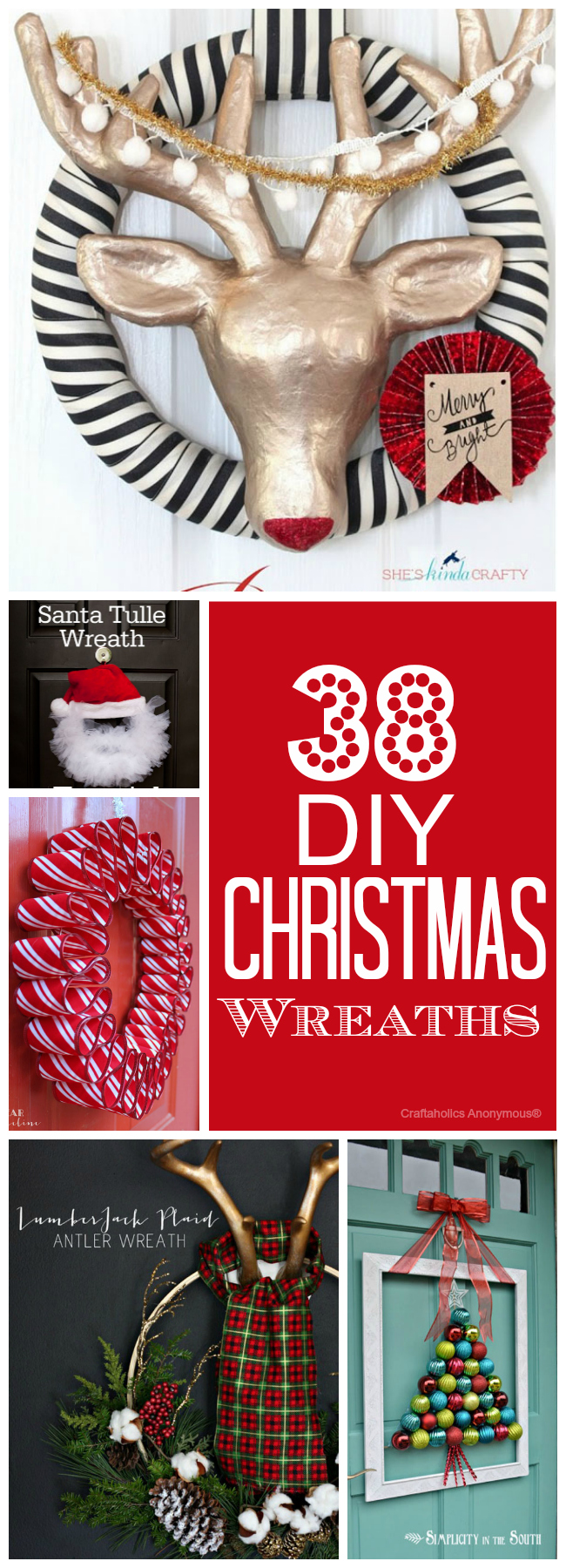 38 Awesome DIY Christmas Wreaths to make!