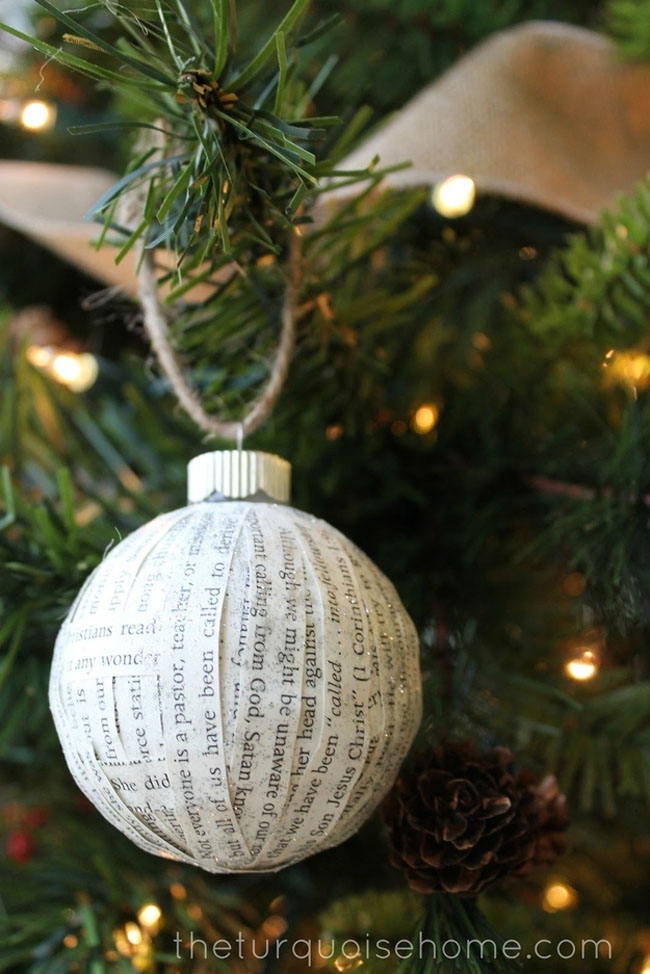 paper covered ornament
