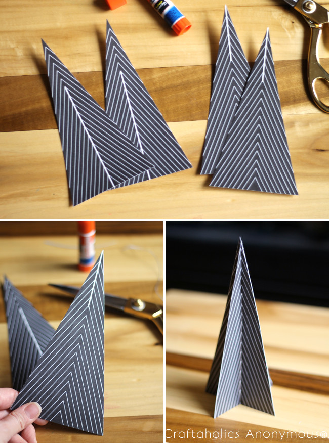 how to make 3D Christmas trees | Craftaholics Anonymous®