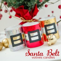 DIY Santa Belt Candles. Make a fabulous handmade Christmas gift or party favor!
