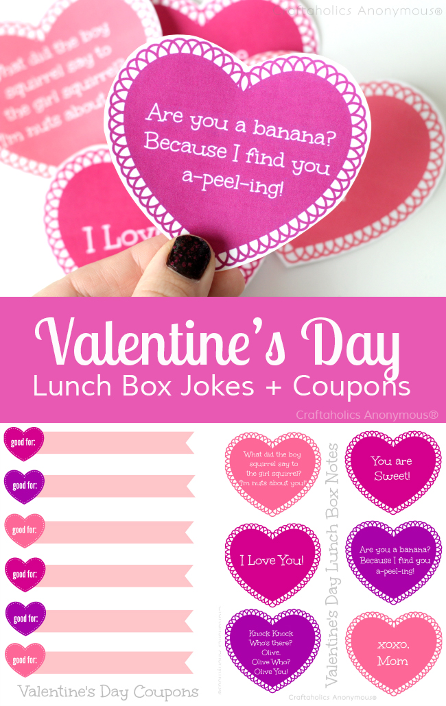 Free Printable Valentine Lunch Box Jokes