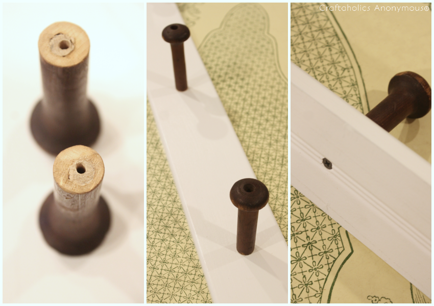 DIY Vintage Wood Spool Towel rack tutorial