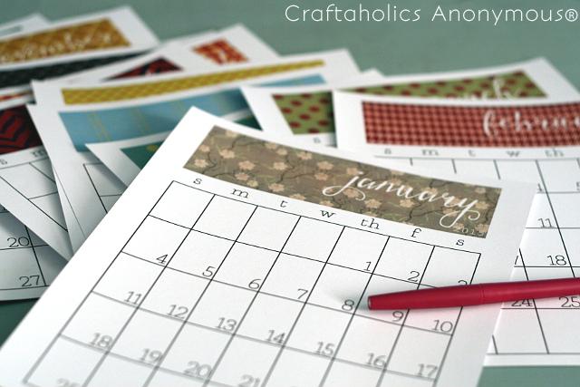 Craftaholics Calendar 1
