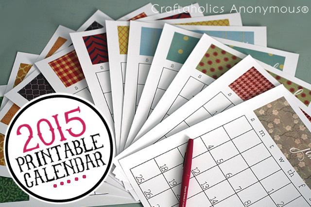 Craftaholics Calendar titled