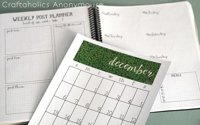 Craftaholics Calendar with planner