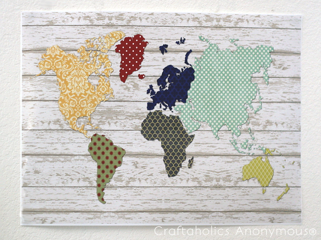 Patchwork world map printable