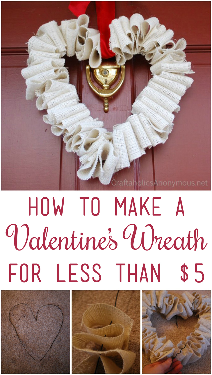 How to make a valentine s wreath for less than 5 craftaholics