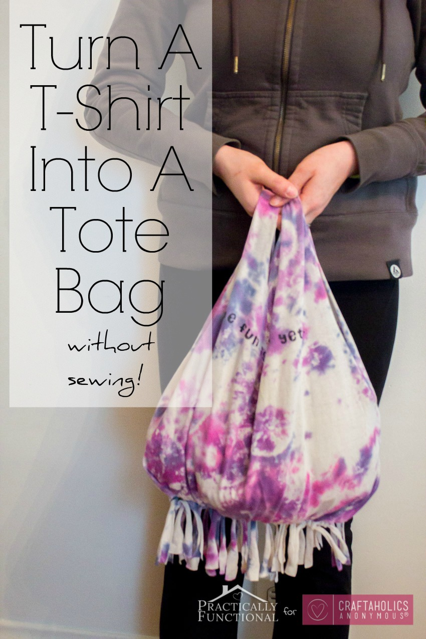 Craftaholics Anonymous® | No-Sew T-shirt Bag Tutorial