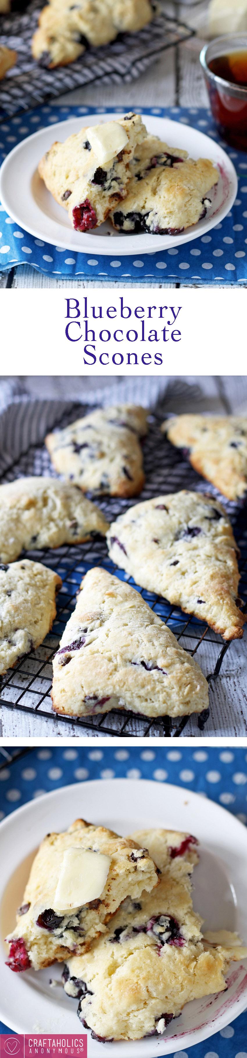 Blueberry Chocolate Scones