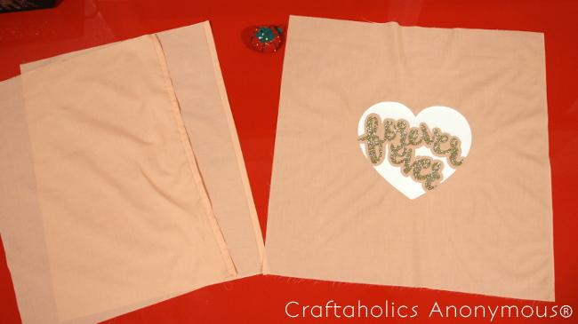 DIY Forever Ever Pillow Tutorial || Valentine Pillow