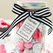 Valentine's Day Mason Jar gift idea