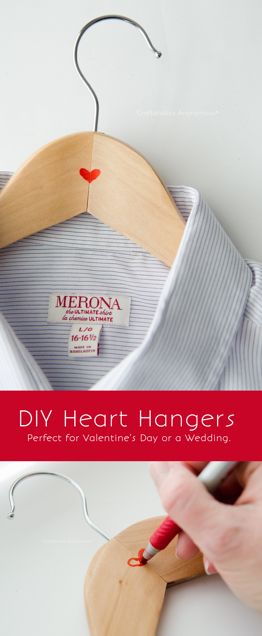 Grab a red sharpie for this easy DIY Valentine for Him || Love this idea for a groom too!