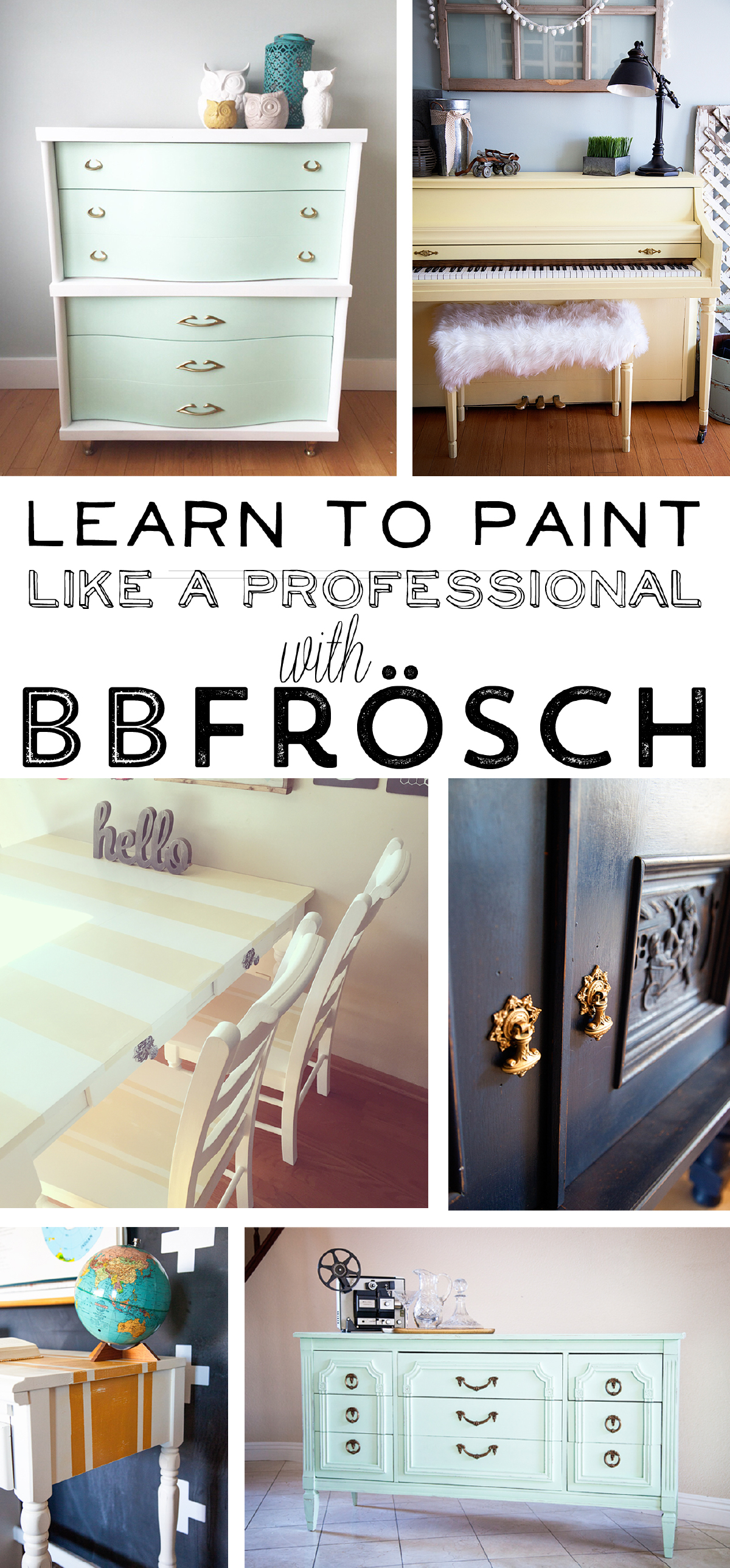 Learn how to paint like a Pro with BB Frosch chalk paint powder