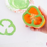 How to Make Bell Pepper Shamrock Stamps