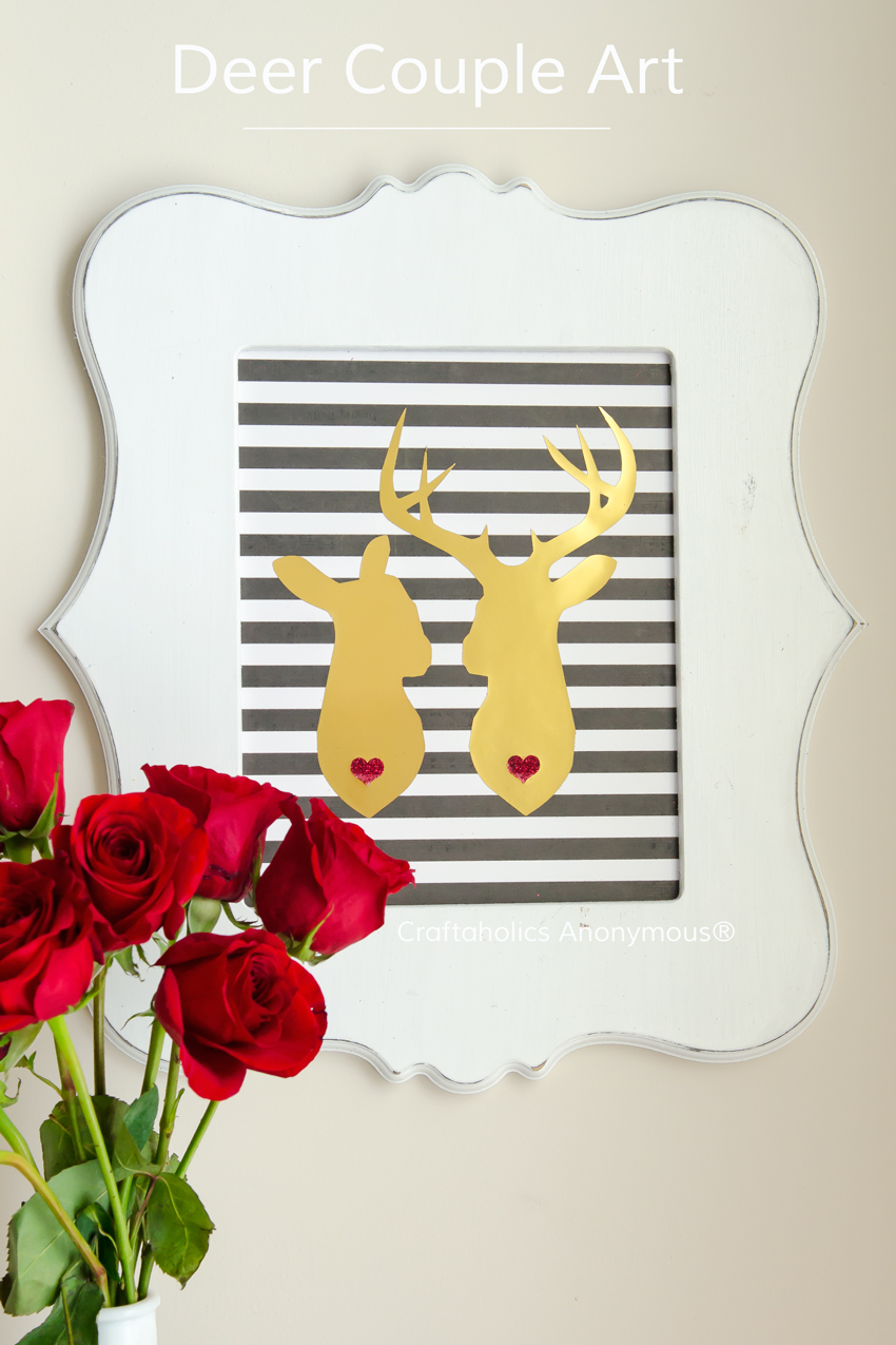 Deer Couple Craft || Perfect for weddings, Valentines, cards, etc