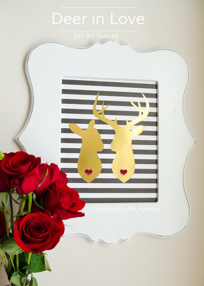 Adorable Deer Couple Art || Perfect for Valentine's Day or DIY Weddings or even wedding gifts