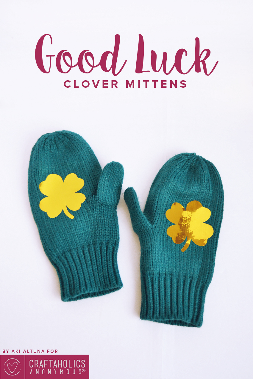 St. Patrick's Day Mittens craft idea    Spread the good luck!
