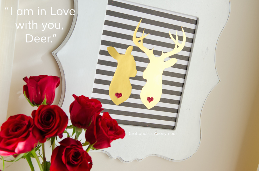 I am in Love with you, Deer || I love this for Valentine's Day or a Wedding! Would make a cute card.