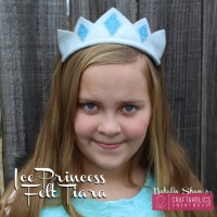 ice princess felt tiara crown headband diy frozen easy diy little girl craft party favor(17)
