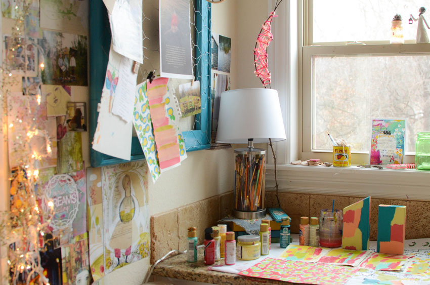 © 2015 Craft Room Tour | The Rosy Life