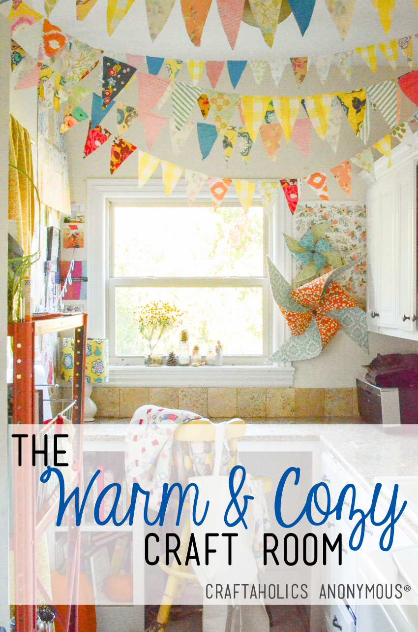 © 2015 Craftaholics Anonymous® Warm and Cozy Craft Room Tour