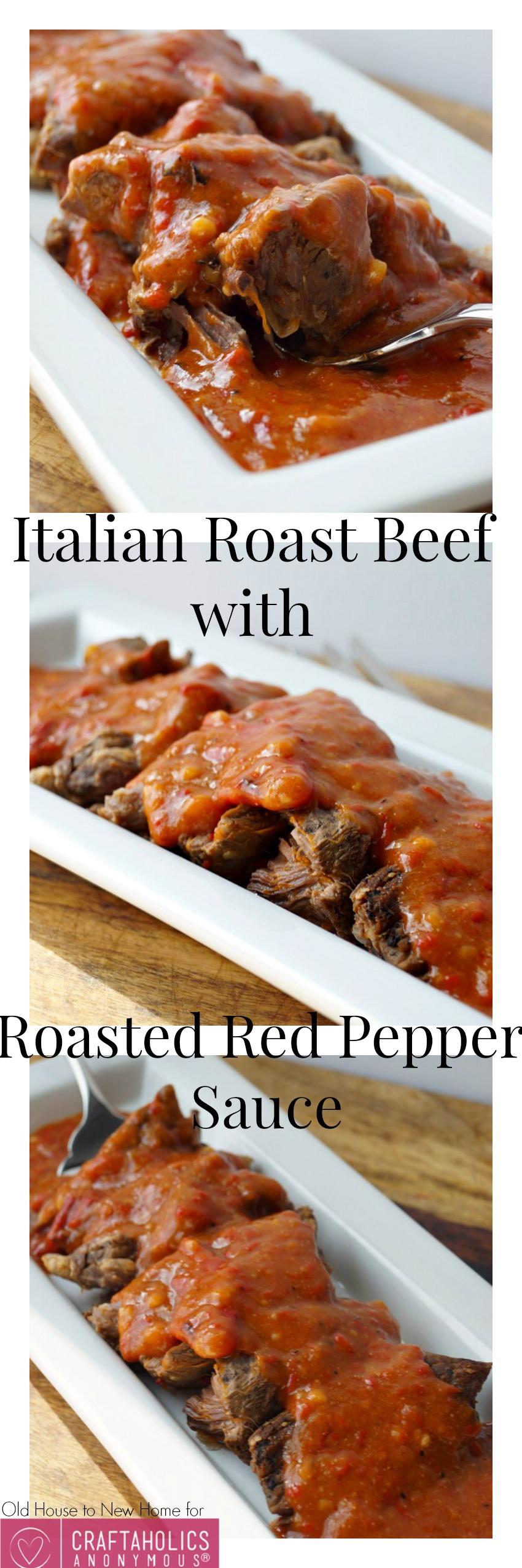 Italian Roast Beef with Roasted Red Pepper Sauce || BEST roast beef recipe ever!