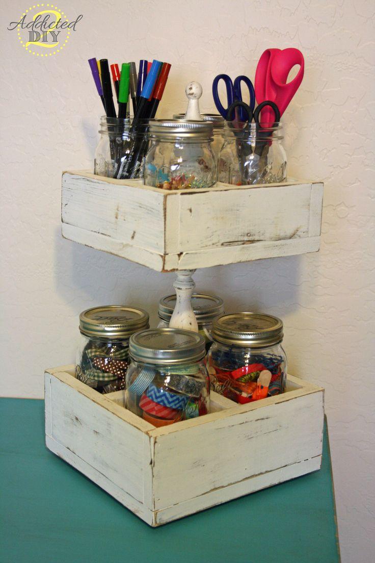 Craftaholics anonymous 41 mason jar hacks for Mason jar craft storage