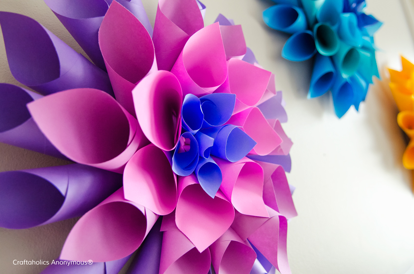 Paper Flower Dahlias in a rainbow of colors