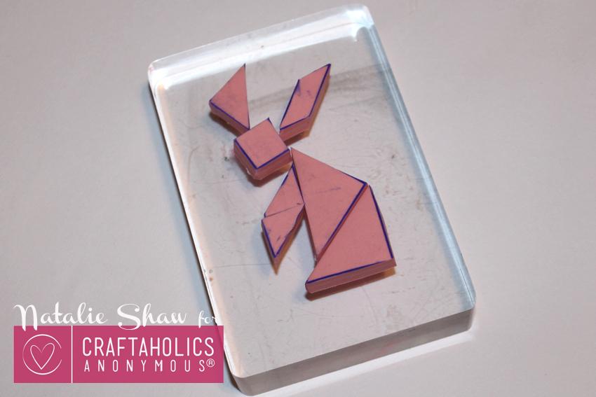 rabbit tangram stamp