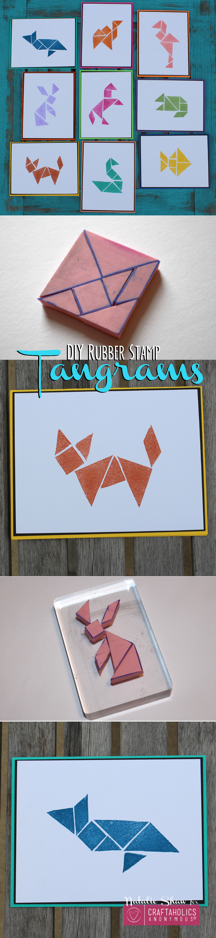 Learn how to make DIY Tangrams Stamps to create art and handmade cards on the cheap!