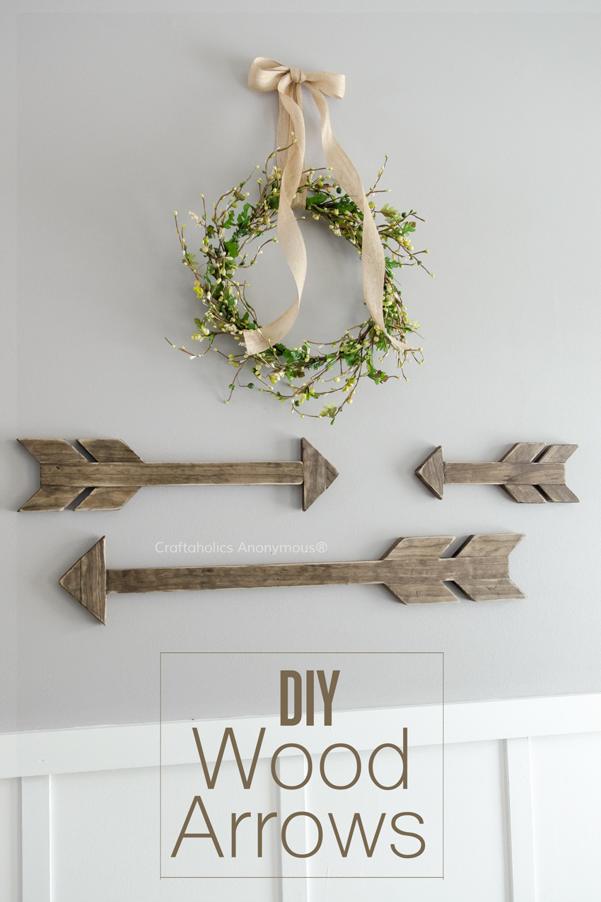 DIY Wood Arrows Tutorial || How to make 3 different size arrows. Makes a fabulous grouping!