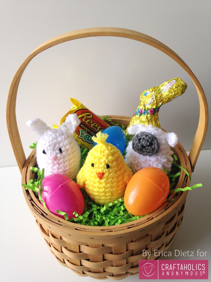 DIY crochet Easter Egg Covers || Free pattern includes chick, bunny, and lamb.