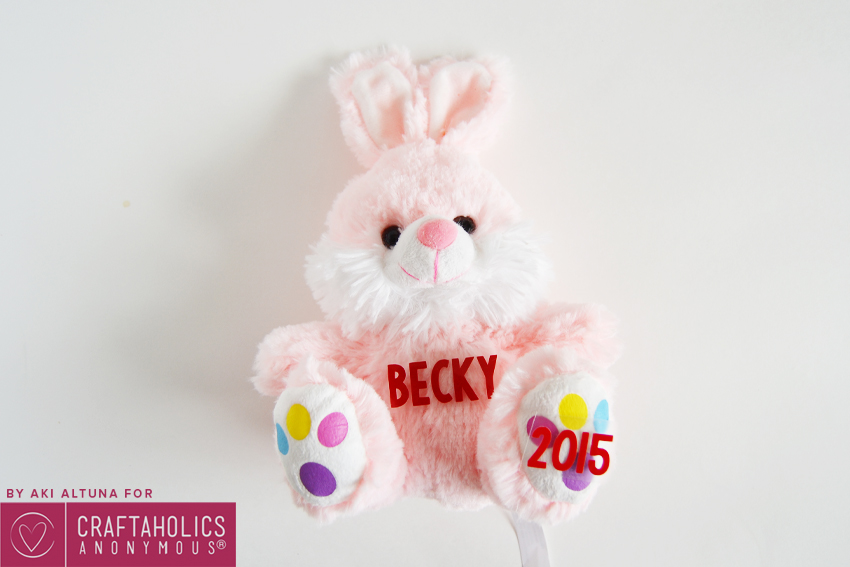 diy personalized easter bunny plush