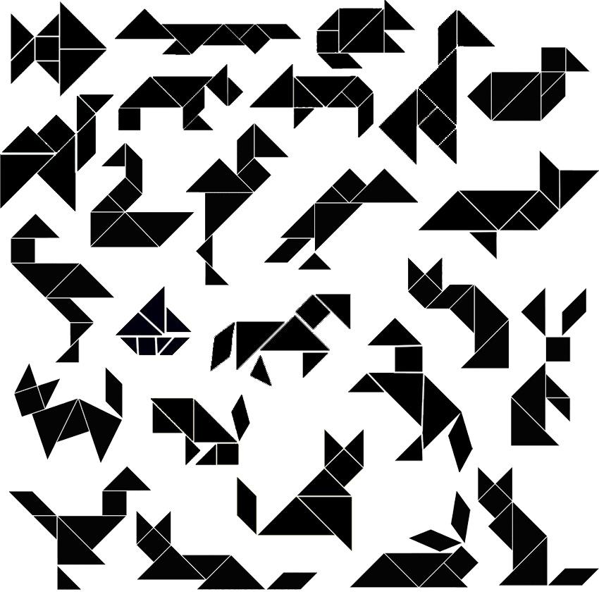 tangrams animals