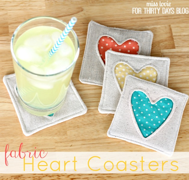 thirty handmade days heart coaster