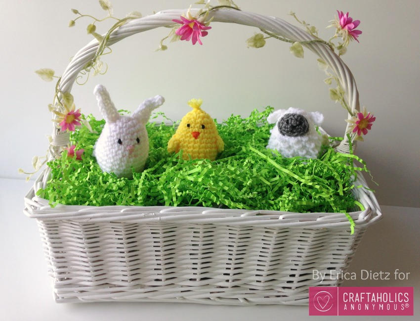 DIY Crochet Easter Egg Covers || Free crochet pattern includes Bunny Rabbit, Chick, and Sheep