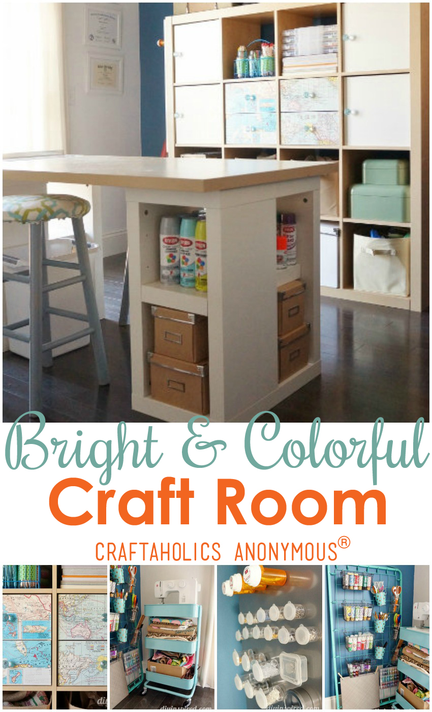 Bright and Colorful Craft Room Tour | Craftaholics Anonymous®