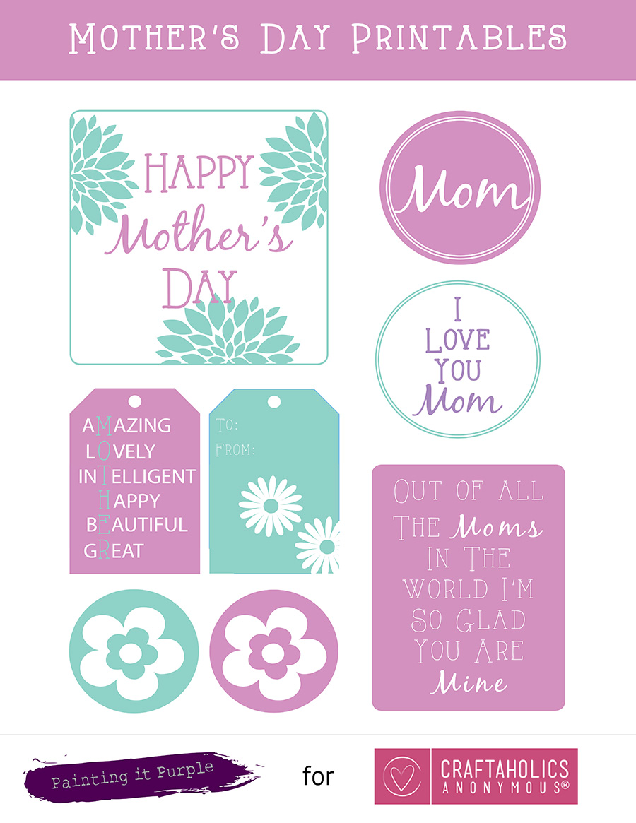 This is an image of Gutsy Free Printable Mothers Day Crafts