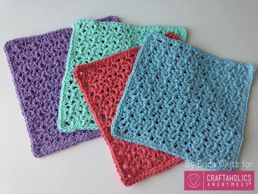 Craftaholics Anonymous? How to Crochet Washcloths Tutorial