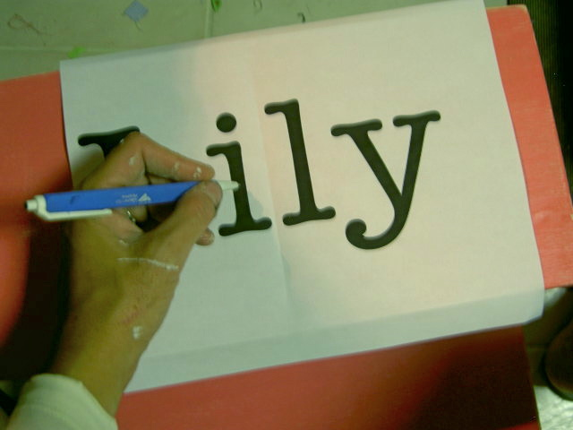 ... Anonymous® | How to Paint Letters on Wood Without a Stencil