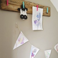 DIY Rustic Children's Art Display
