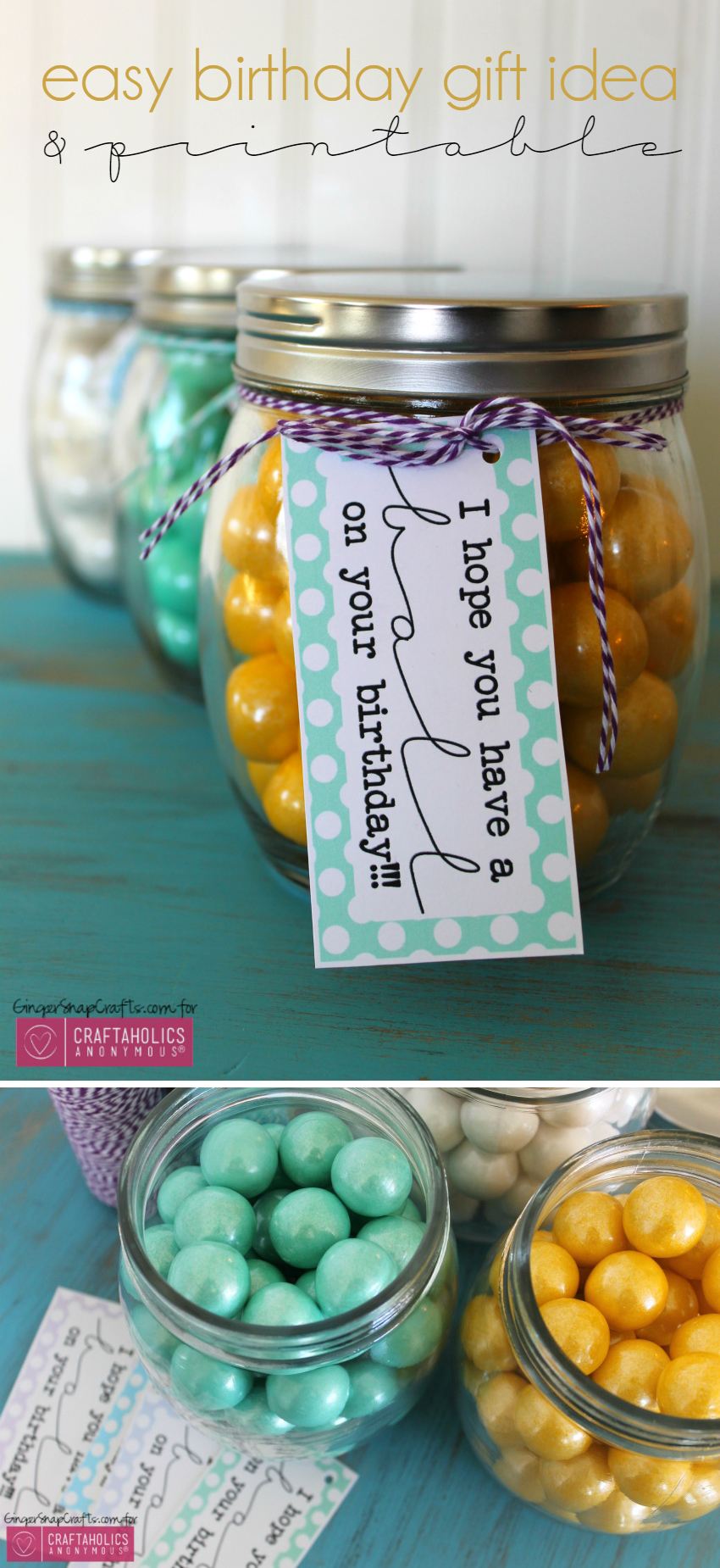 Birthday Gift idea with Free Printable