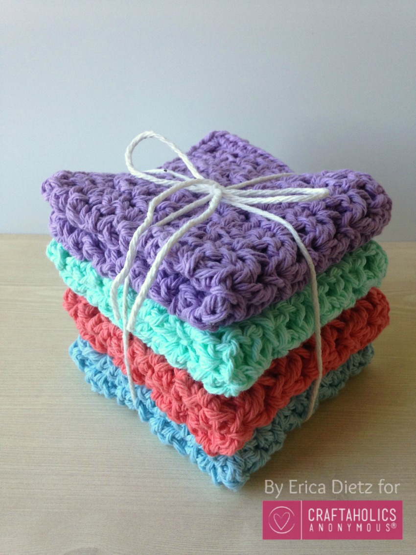 Crochet Stitches Washcloths : Craftaholics Anonymous? How to Crochet Washcloths Tutorial