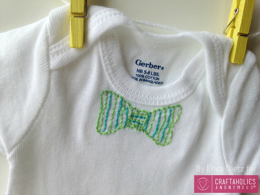 embroidered baby onesie