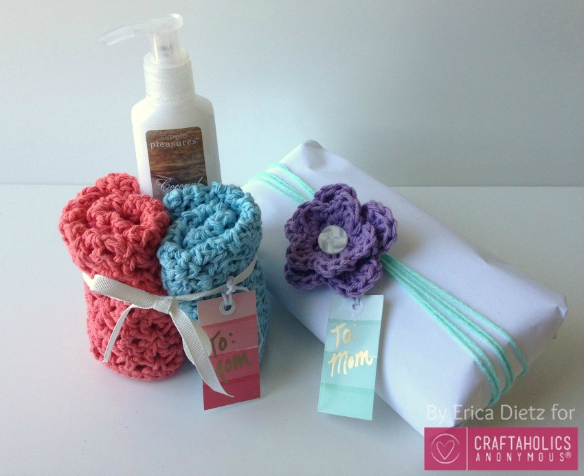 crochet washcloth gifts for mom