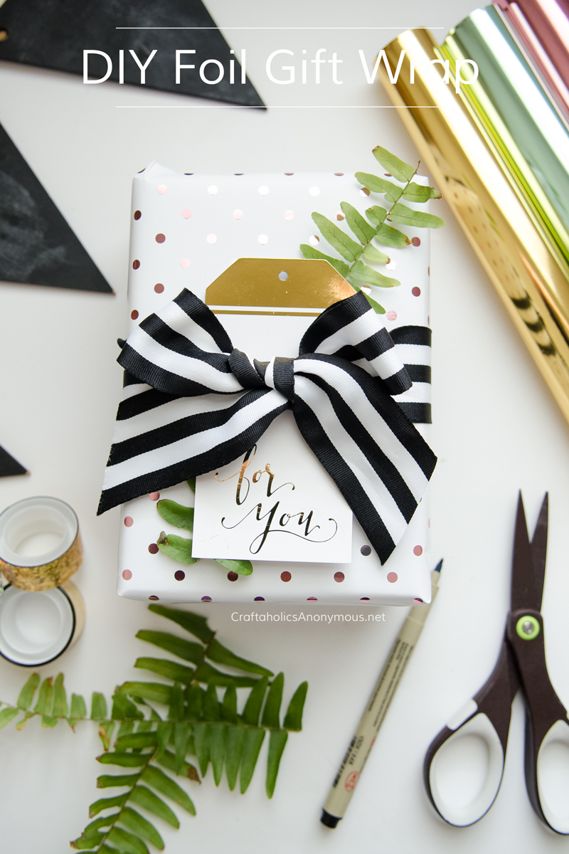 DIY Foil Gift Wrap using the Minc tool    click to learn more