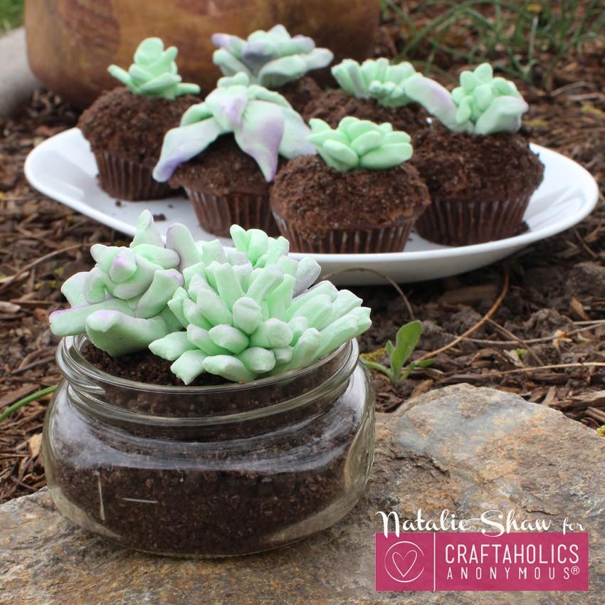 edible terrariums succulents marshmallow fondant cupcake dirt cups cake wedding decor mason jar dessert craftaholics anon (20)