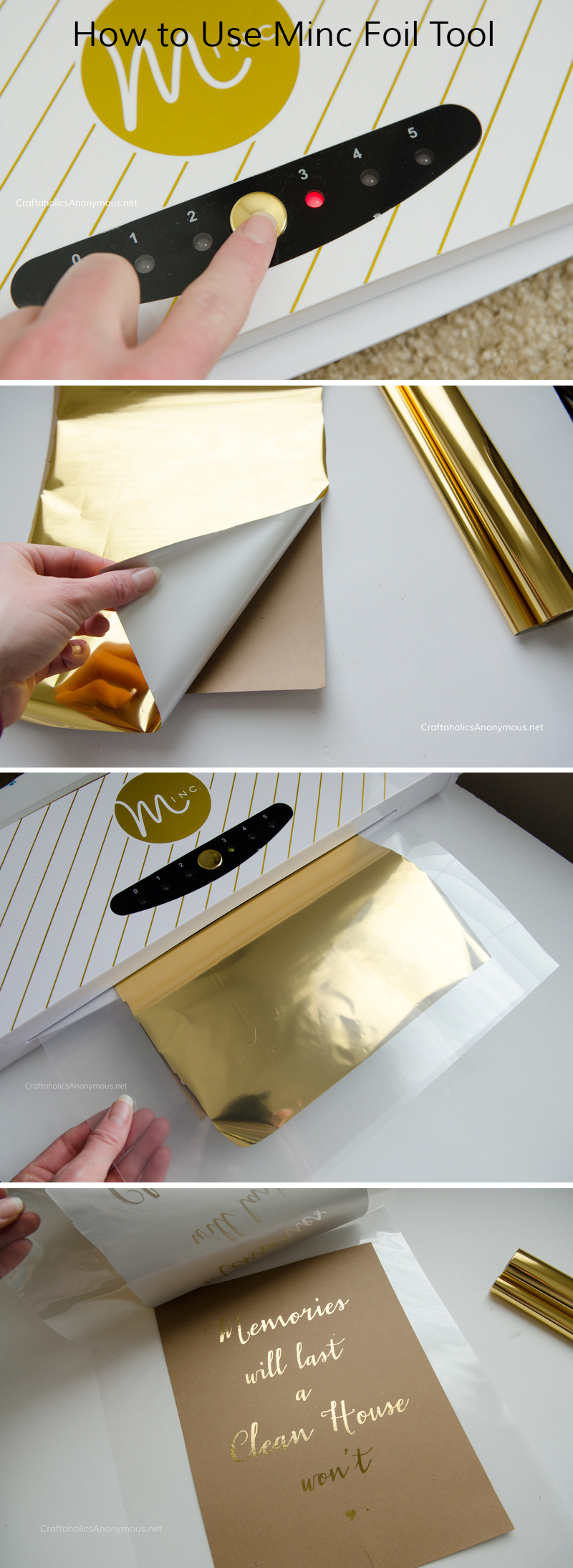 Minc Review + How to use Minc Foil Applicator    Add foil to paper, card stock, vellum, and wood veneer with the Heidi Swapp Minc