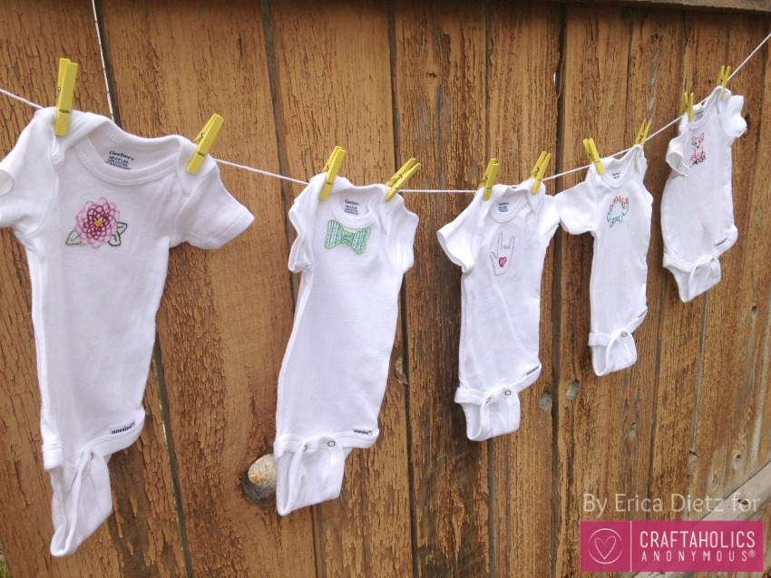 Embroidered Baby Gift Ideas : Craftaholics anonymous? baby gift idea embroidered