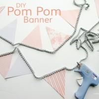 DIY Pom Pom Banner